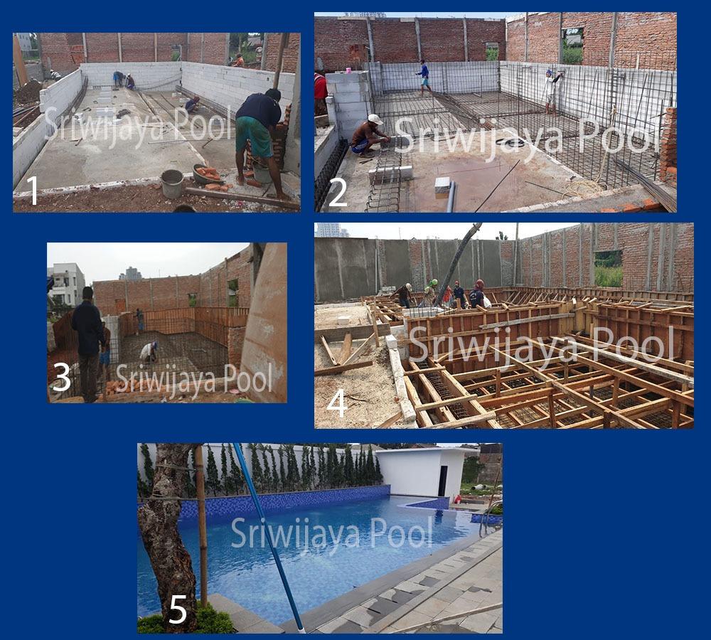 Pembuatan kolam renang di daerah gambus palembang oleh ahli pembuat kolam renang palembang | Sriwijaya Pool