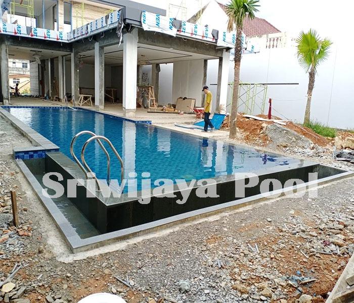 kolam renang setelah selesai dikerjakan oleh sriwijaya pool