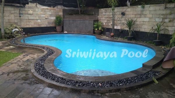 kolam renang klien di palembang yang dibuat oleh sriwijaya pool