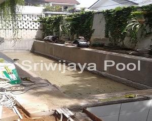 kolam renang klien yang dibuat oleh sriwijaya pool